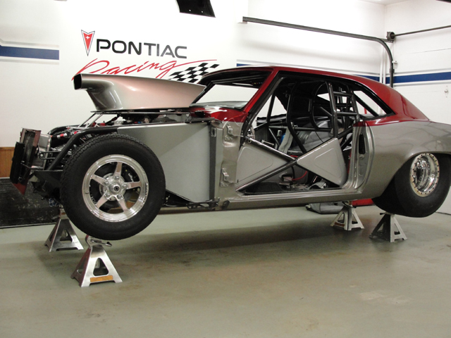 1969 Pontiac Firebird race car replaced windshield and back glass