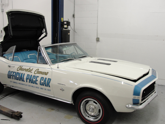 1967 Chevrolet Camero Official Pacecar 1 of 2 made. Installed date coded windshield.