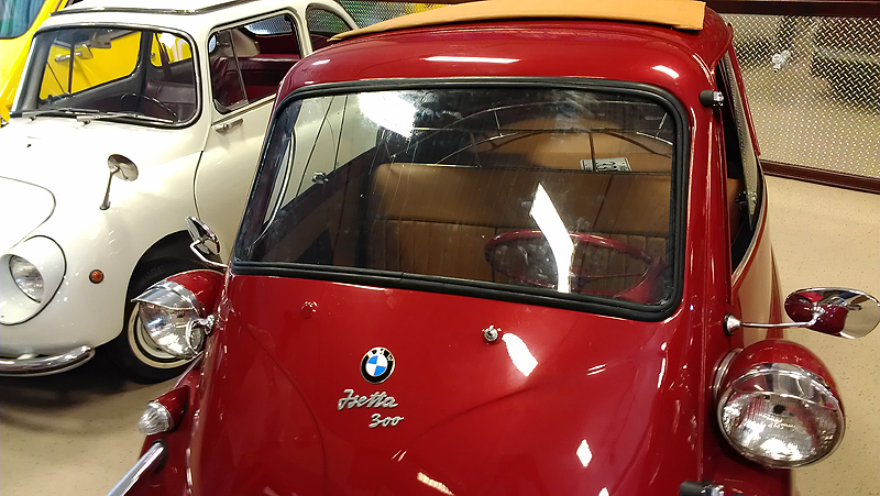 Classic BMW Isetta 300 Windshield Installed