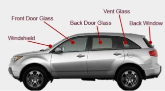 Auto Glass Parts, Windshields, Front Door Glass, Back Door Glass, Vent Glass, Back Window Glass